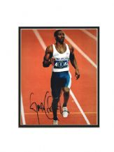 Linford Christie Autograph Signed Photo